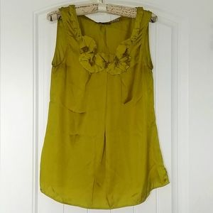 👚VIOLET & CLAIRE CHARTREUSE BLOUSE small